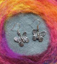Beautiful Boho Butterfly Earrings Silver