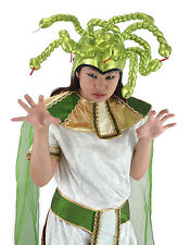 Shiny Green Bendable Snake MEDUSA HAT greek monster gorgon costume alien