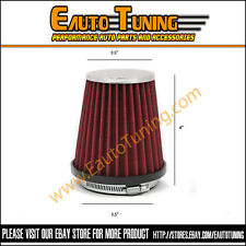 "RED 3.5"" Inches Inlet 89mm Cold Air Intake Cone Dry Type Narrow FILTER CH1"