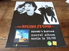 THE ROLLING STONES - BRIDGES!FRENCH!!PUBLICITE / ADVERT
