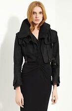 $1,995 NEW Burberry Prorsum 4 38 Hoodie Crop Linen Parka Jacket Coat Women ITALY