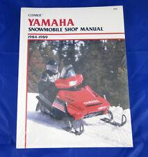 CLYMER YAMAHA SNOWMOBILE SHOP MANUAL 1984-1989 PZ480 1987-1989 EX570, S-826