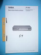 Service manual manual for Saba Meersburg Stereo automatic L ,ORIGINAL
