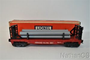 Vintage LIONEL No. 6477 Miscellaneous Bulk Car With Pipes In Box
