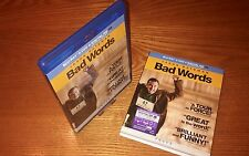 BAD WORDS 2-disc Blu-ray US import region a free abc rare OOP slipcover slipcase