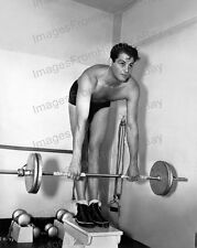 8x10 Print James Ellison Handsome Bare Chested Gym Workout #JE1