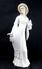 Vintage Lladro Young Lady In White Dress H-My Daisa