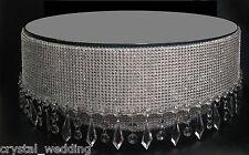 Crystal Droplet Diamante cake stand Podium recess Pedestal display LED light up