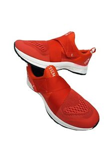 TIEM Slipstream Cycling Shoes Red Cycle Sneaker US Size 6.5 With Shimano Cleat