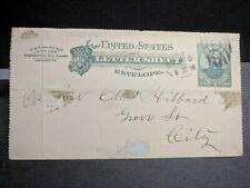 1886 RHODE ISLAND FURNITURE Co #U293 Postal History Cover entire letter sheet