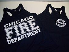Chicago Fire Department Ladies Racerback Navy Tank Top