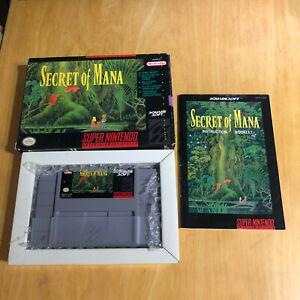 Super Nintendo / SNES - Boxed NTSC - Secret of Mana VGC