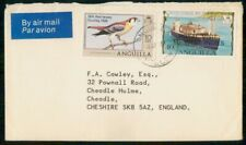 Mayfairstamps Anguilla 1981 to Cheshire Bird Prince on Boat Cover wwh_33161