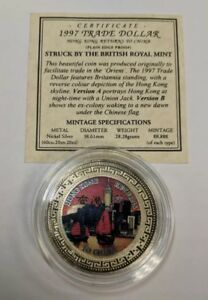 1997 British Royal Mint Colorized Commemorative Hong Kong One Dollar