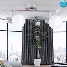 Glas Kugel Decken Strahler Leuchte verstellbar Arbeits Zimmer Spot Lampe silber