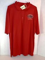 Georgia Military College Preparatory School Mens Polo Logo Shirt Size XXL Red