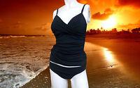NWT GOTTEX PROFILE Black Tankini 2pc BATHING SUIT Swimsuit SET size - 6