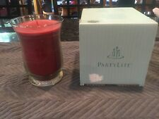 Partylite Slim Hurricane Jar Candle Cranberry Delight Candle New In Box