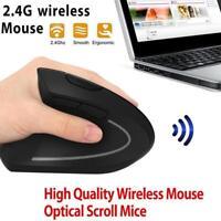 Wireless Vertical Ergonomic Left hand Optical Mouse, 800 / 1200 /1600DPI