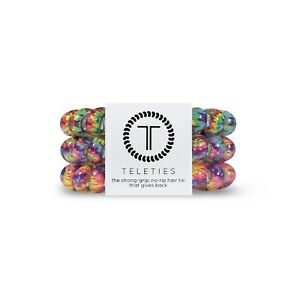 New Teleties 3 Pack Small Hair Ties Psychedelic Bracelet Ponytail Holder