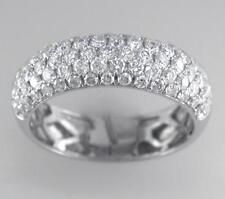 1.00ct F VS Brilliant Cut Diamond Half Eternity Wedding Ring in 18ct White Gold