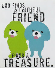 """A Faithful Friend by Ginger Oliphant 14x11"""" Poster Reprint"""