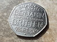 Rare Collectable Benjamin Britten 50P Coin 2013 Blow Bugle Blow