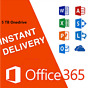 Microsoft Office 365 2019 Professional Plus Activate account 5 Users 5 TB Cloud
