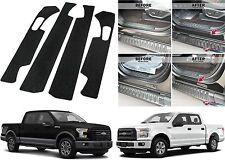 4pc Door Entry Scuff Guards For 2015-2018 Ford F-150 Crew Cab New Free Shipping