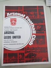 Arsenal V Leeds    1969/0