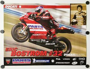 Vintage Poster 2005 Eric Bostrom Ducati Austin 999 AMA Superbike