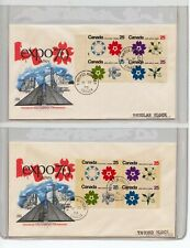 1970 Canada Fdc Stamp Cover Lot - Manitoba Collection Canadian Postal - Ma444
