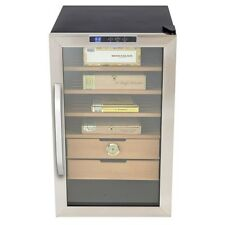 Premium Cigar Cooler Humidor Tobacco Storage System Stainless Steel 2.5 cu. ft.