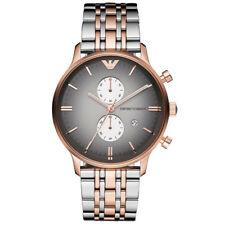 NEU Emporio Armani AR1721 Herrenuhr Chronograph Edelstahl Farbe: Silber Rosé OVP