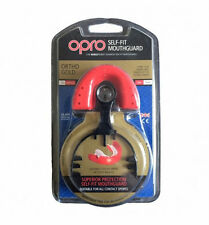 OPRO Ortho Gold Self-Fit Mouthguard Rugby Hockey - For Fixed Braces