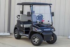"NEW Black / Gray 48V Electric Golf Cart 2 Passenger 2"" Lift Golf Pkg Cooler"