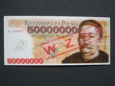 POLAND 2007 - 50.000.000 ZL- HOLOGRAM NOTE (ONE SIDE )-SPECIMEN /WZOR -GEM UNC
