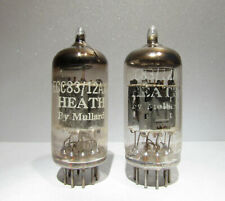 12AX7 ECC83 Mullard for Heath Short Plate Copper Grid Posts Halo Tested Lot of 2