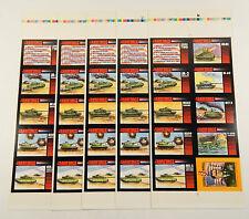 Lot of (5) 1991 Crown Landforce Series Two Set Uncut Sheets (#1-8 + Powell Card)