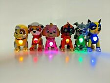 Paw Patrol Mighty Pups 6 Pack Gift Set Figures  w/ Light Up Badges & Paws