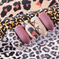 4pcs Leopard Print Stickers on Nails Foils Starry Sky Wraps Transfer Decals Poli