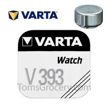 VARTA V393 393 SR48 AG5 LR754 LR48 D309 D393 Micro Watch Battery 1.55V EXP:2022