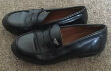 Armani Junior Boys Black Leather Moccasin Penny Loafers