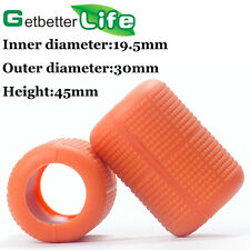 2Pcs Autoclavable Soft SILICON GRIP COVERS Orange Tattoo Grip Supply Equipment