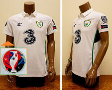IRELAND 2015/16 Euro Qualifiers Umbro Away Jersey (M) *New -RESPECT patch