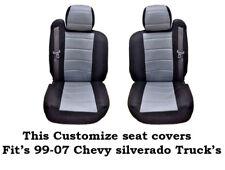 New Black/Gray Mesh Custom seat covers Fit's 1999~2006 Chevy Silverado Truck's