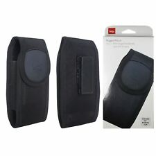 "Phone Case Cover Belt Clip up to 5.5"" Device Verizon Rugged Nylon Pouch Black"