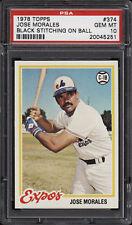 1978 Topps #374 Jose Morales - Expos - PSA 10 - 14388447