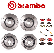 For MB W166 X166 Front & Rear Brake Kit Disc Rotors Ceramic Pads Sensors Brembo