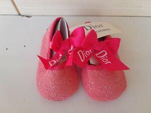 dior homme  Newborn Baby pink girl  Shoes DIOR NO 2